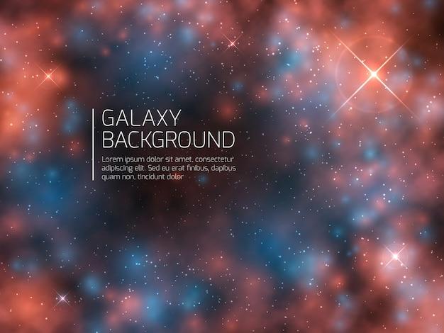 Universo galaxia y estrellas nocturnas. fondo de vector abstracto de supernova mística cosmos