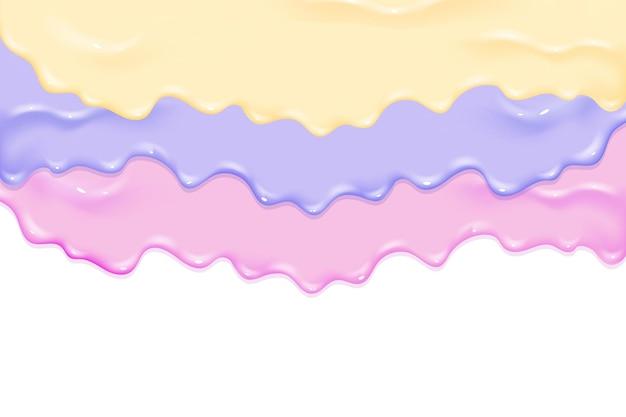 Untar pintura barniz caramelo o mermelada textura limo. elegante concepto de pintura colorida en capas líquidas de acrílico o acuarela