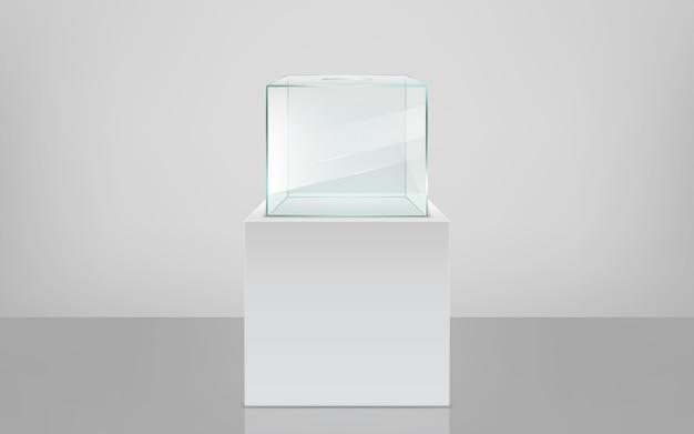 Urna vacía en pedestal vector realista