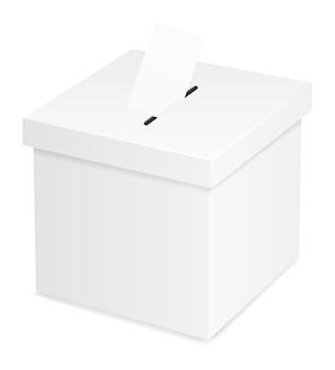 Urna para votación electoral aislado sobre fondo blanco.