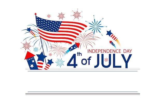 Usa 4 de julio día de la independencia
