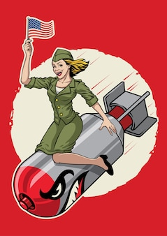 Usa bomb girl pin up