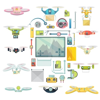 Usando drones grupo set
