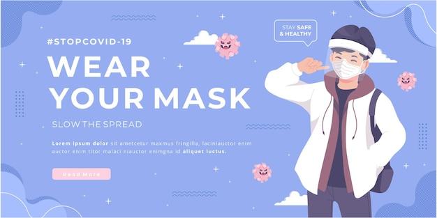 Usando su diseño de banner de campaña de máscara