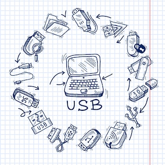 Usb y computadora