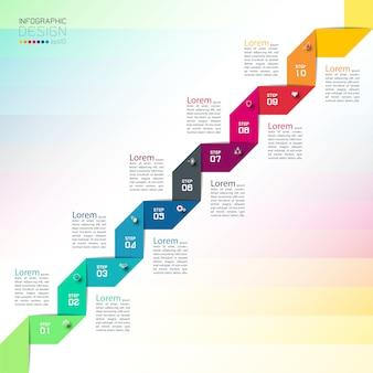 Uso de plantillas de diseño moderno para infografías.