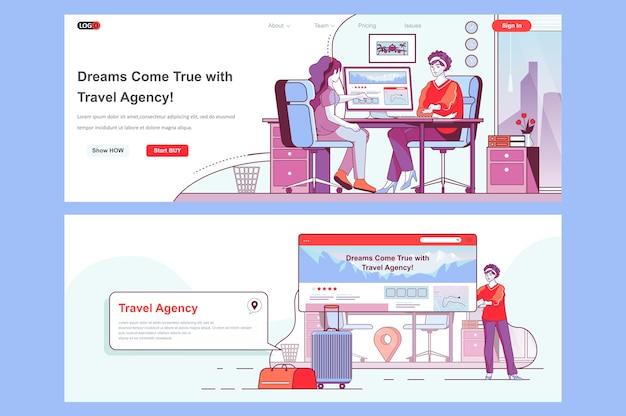 Uso de plantillas de páginas de destino de agencias de viajes como encabezado