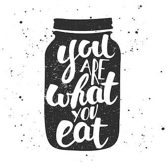 Usted es lo que come.