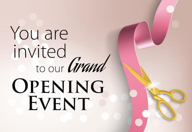 Usted está invitado a nuestras letras de evento de gran inauguración