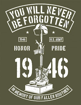 Usted nunca será olvidado