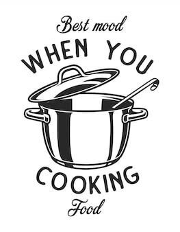 Utensilio de cocina monocromo vintage