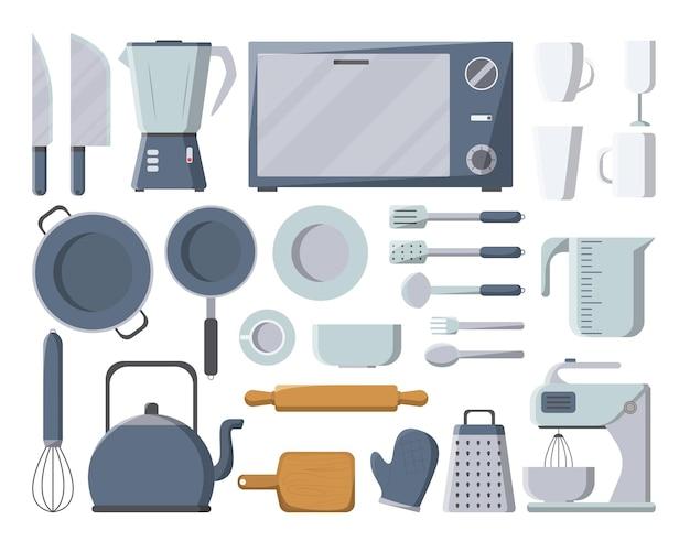 Utensilios de cocina en la cocina