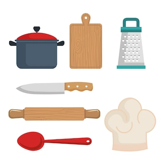 Utensilios de cocina colorido