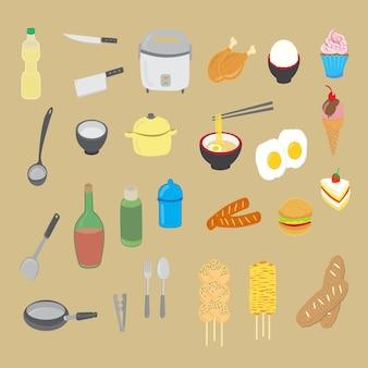 Utensilios de cocina y comida