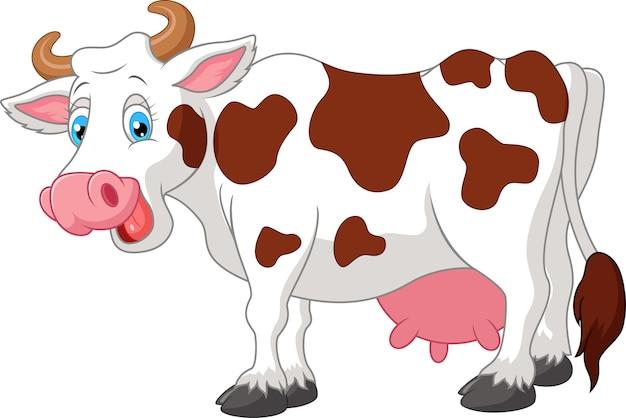 Vaca de dibujos animados feliz