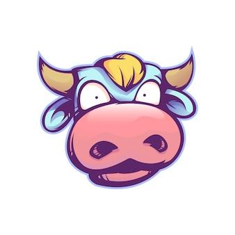 Vaca de dibujos animados lindo