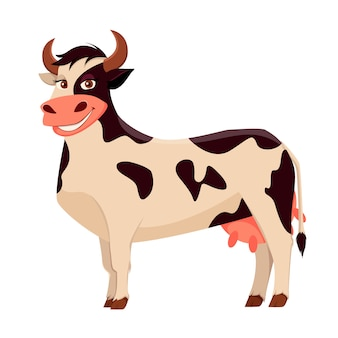 Vaca linda, animal de granja.