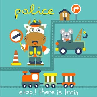 Vaca la policía