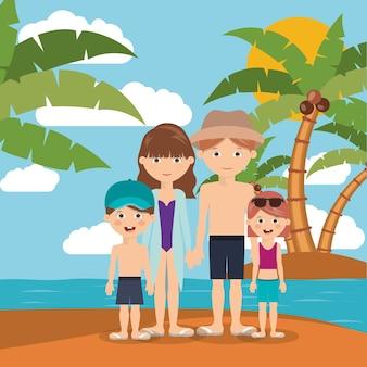 Vacaciones de verano en el diseño de la familia