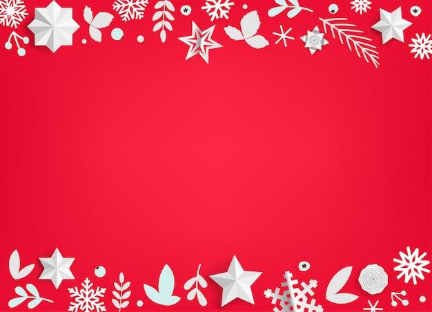 Vacaciones de invierno vector fondo con elementos de navidad