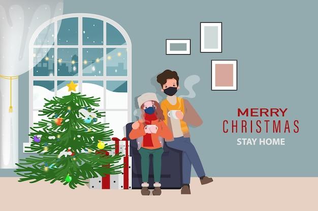 Vacaciones de navidad y quedarse en casa con pareja.