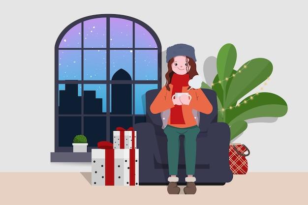 Vacaciones de navidad y quedarse en casa.