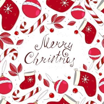 Vacaciones de patrones sin fisuras para navidad letras dibujadas a mano