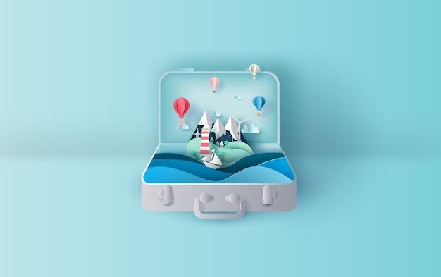 Vacaciones temporada verano maleta