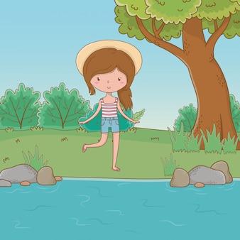 Vacaciones y verano al aire libre.