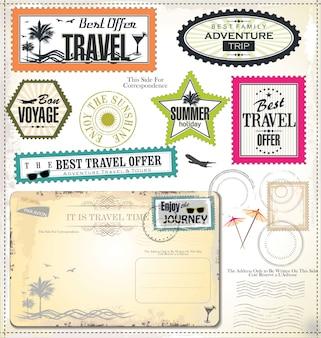 Vacaciones de verano y etiqueta de tiempo de viaje