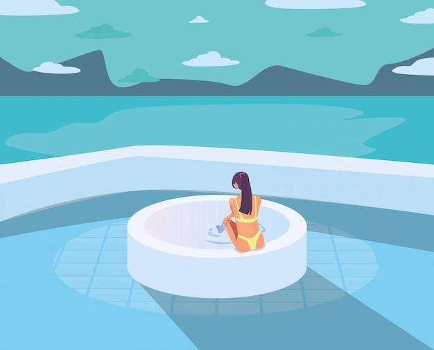 Vacaciones de verano mujer