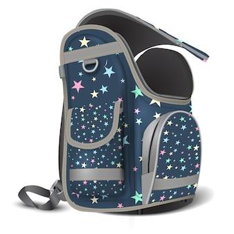 Vaciar mochila escolar abierta.
