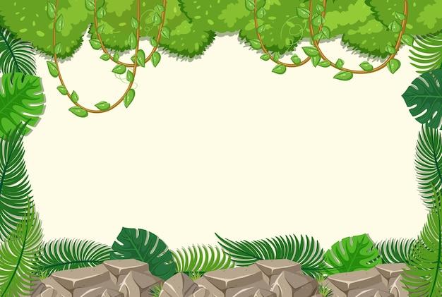 Vacío con elementos de árboles de la selva.