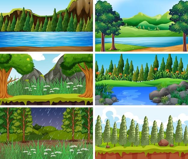 Vacío, escenas de la naturaleza del paisaje en blanco o de fondo