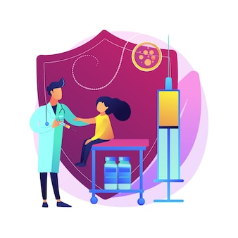Vacunación de preadolescentes y adolescentes ilustración del concepto abstracto. la inmunización de niños mayores, la vacunación de adolescentes y preadolescentes, previene a los niños de la metáfora abstracta de enfermedades infecciosas.