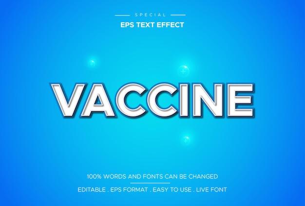 Vacunas con efecto de texto en un estilo elegante