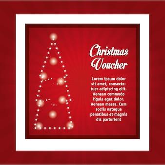 Vale de navidad con el icono del árbol de navidad