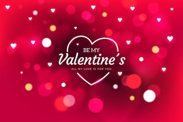 Valentine fondo borroso con puntos desenfocados