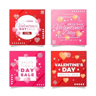 Valentine's day sale instagram post collection