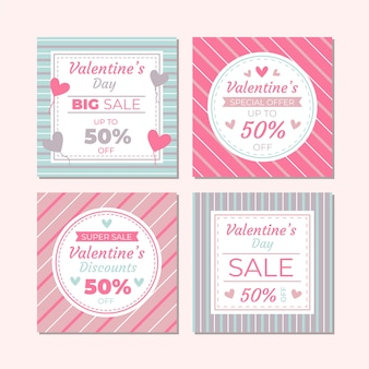 Valentines day sale instagram post collection