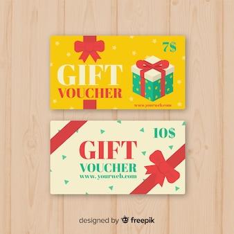 Vales de regalo hermosos