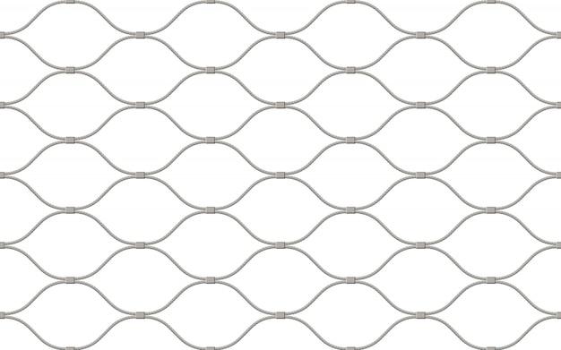Valla hecha de alambre de patrones sin fisuras