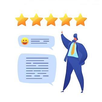 Valoración de los comentarios de los clientes con estrellas