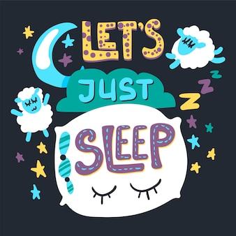 Vamos a dormir ilustración dibujada a mano