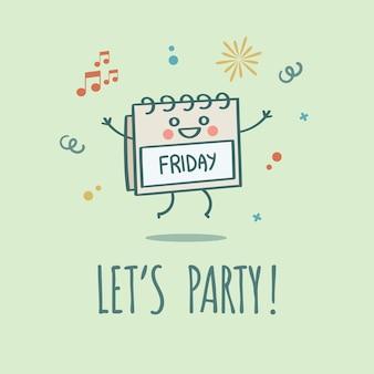Vamos a fiesta el calendario de fin de semana de viernes