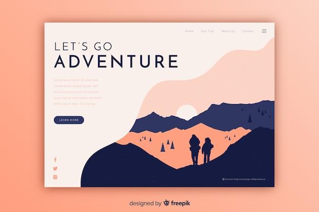 Vamos a la página de aterrizaje de aventura