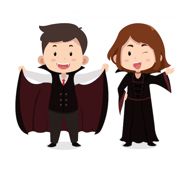 Vampiro de personajes de niños lindos