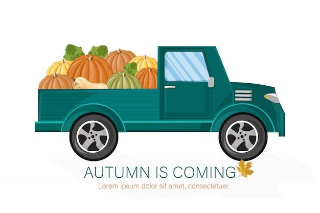 Van cosecha de otoño