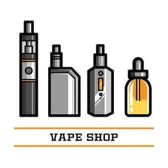 Vape shop elemento vectorial