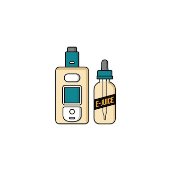 Vaporizador personal e-cigarette e-juice liquid